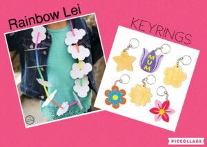 Rainbow Lei & Keyrings